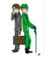Scarecrow and Riddler Practice by ravenofthedarkness6