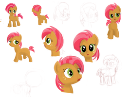 Pony Sketches: Babs Seed by RandomDash