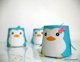 Penguins from 'mawaru penguindrum' by aeron21