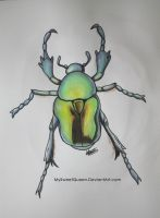 Tattoo Design: Green Beetle by MySweetQueen