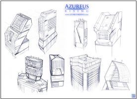 Azureus Rising - Buildings by Hideyoshi