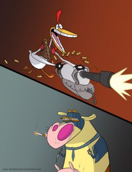 TF2: Cow and Chicken by SleepDepJoel
