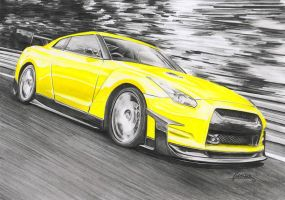 nissan GTR by Haster-Trenctown