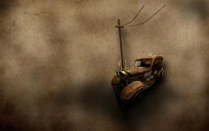 Old Brown Car SE by neodesktop