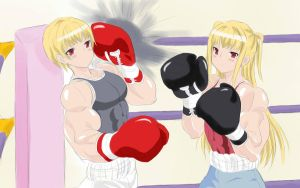 Mariya vs Shizu by g10w