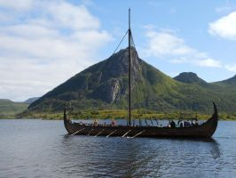 The Gokstad Longboat by Noneednogreed