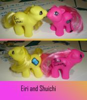 Eiri and Shuichi Pony Customs by AnimeAmy