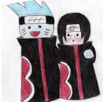Kisame and Itachi by SasoDei-Chan