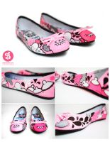 Pink Monster Flats by Bobsmade
