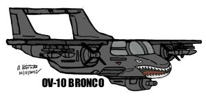Quick Drawing sketch of OV-10 Bronco by archaznable30
