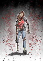 Zombie Girl by sonburnt777