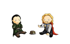 Loki and Thor by Lordfell