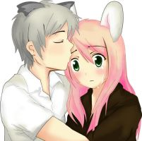the bunny and the wolf? by claresakura09