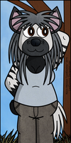 Marjo, the Striped Hyena Girl by LordDominic