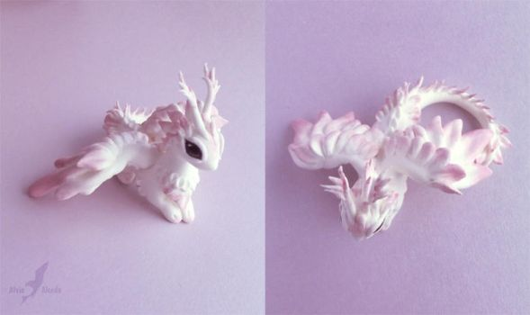 Pink moth dragon another view by AlviaAlcedo