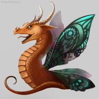 Pathfinder: Faerie Dragon by telthona