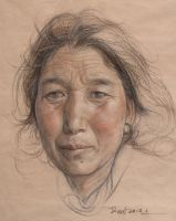 Portrait of tibetan women by william690c