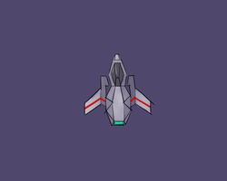 2D Spaceship Concept 1 by 0x7C00