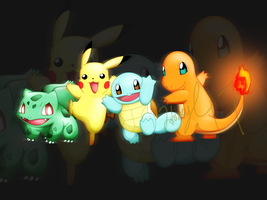 Kanto starters by HoneyL17