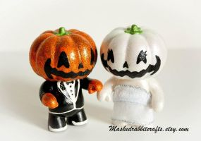 Halloween Jack O Lanterns by maskedrabbitcrafts
