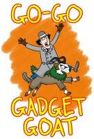 GO-GO GADGET GOAT by myhelmethazstickers
