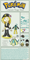 Pokemon Trainer Reference Sheet by Piranhartist
