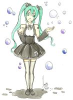 Hatsune Miku and your bubbles by nay-only