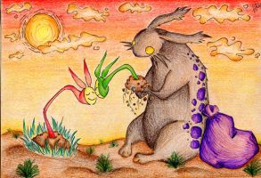 -together again- rabbit by Akibono