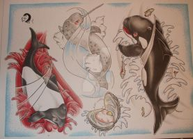 sealife sheet 1 by willowtreetattoos
