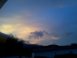 Blue and pink Sky by angelyviverosmoreno