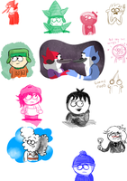 Regular Show and South Park doodles 11 by LotusTheKat