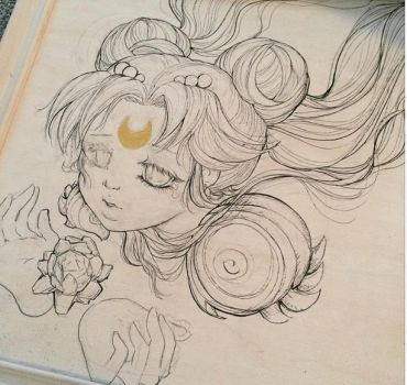 Sailor Moon Painting wip by camilladerrico
