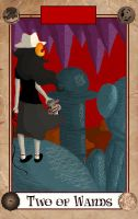 Tarotstuck - Two of Wands by softisthenight