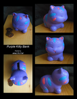 Purple Kitty Bank by akaLOLCat