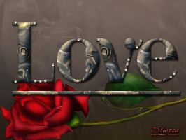 Marbel Text (LOVE) by duzetdaram