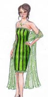 Chikara's Striped Dress by taylor-of-the-phunk