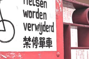 Sign from Chinatown, Amsterdam by abiogenic