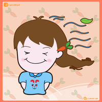 Carrot girl : Windy by angelto