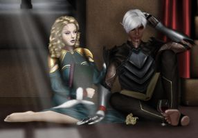 DAII: Fenris and Yolanda Hawke by catty2882