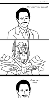 Optimus Prime and Peter Cullen: Smile by celtakerthebest