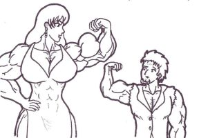Bodybuilder date by tj-caris