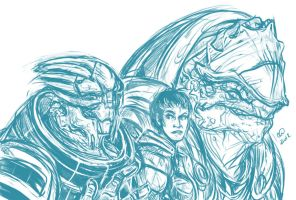 Random Mass Effect Sketch Poop by BLACK-HEART-SPIRAL