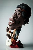 Jimi Hendrix in Clay by IgorGosling