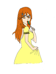 orihime casual coloured by diegosora281092