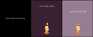 Light a single candle by Phlll