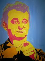 Pop Art Bill Murray by loveisnotfinancial