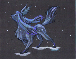 Glaceon: The Ice Fox by SUNgoddessOKAMI