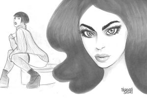 Girl Sketch Collection #7 by LorenzoSabia