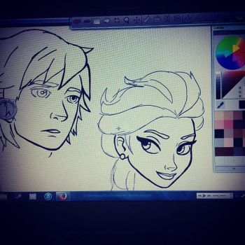 WIP Hiccup - Elsa by EndeavourHL
