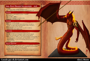 Jarl, Half-Dragon Salamander, Bestiary Entry by Canada-Guy-Eh